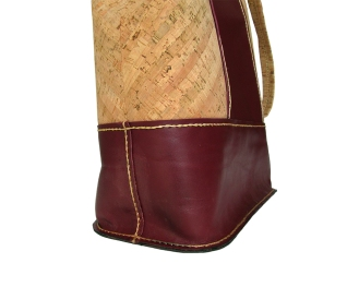 Autumn Bag - Bordeaux leather and cork tote bag, with champagne satin lining. Seven internal pockets, one with zipper. by misp (386) https://www.etsy.com/listing/206018309/