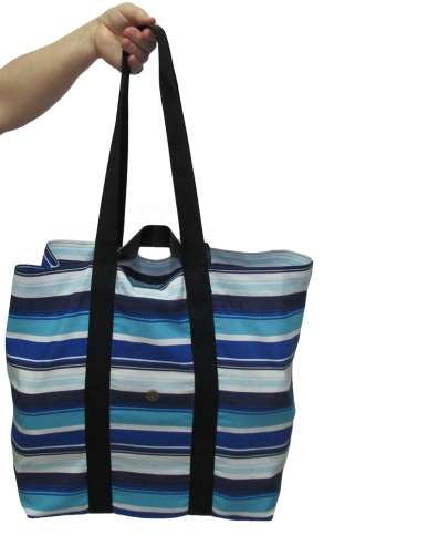 Blue and white striped market tote bag https://www.etsy.com/listing/218875946/